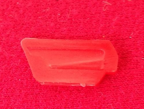 Corgi #241 - Original - Ghia L. 6.4 - Red plastic inside door trim for the Left Hand Door